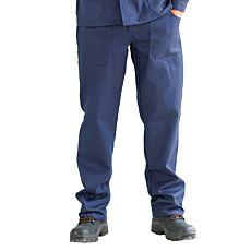 Arbeitshosen Baumwolle blau mit Doppelnähten