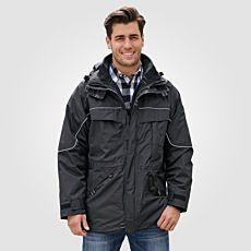 Herren Outdoor-Jacke 3 in 1 mit versenkbarer Kapuze