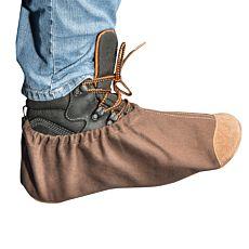 Schuhüberzieher mit weicher Ledersohle