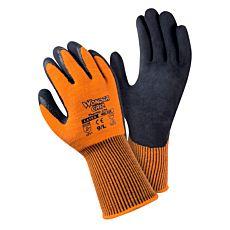 WONDERGRIP Schaumlatex-Handschuh aus gebürstetem Acryl und Elasthan