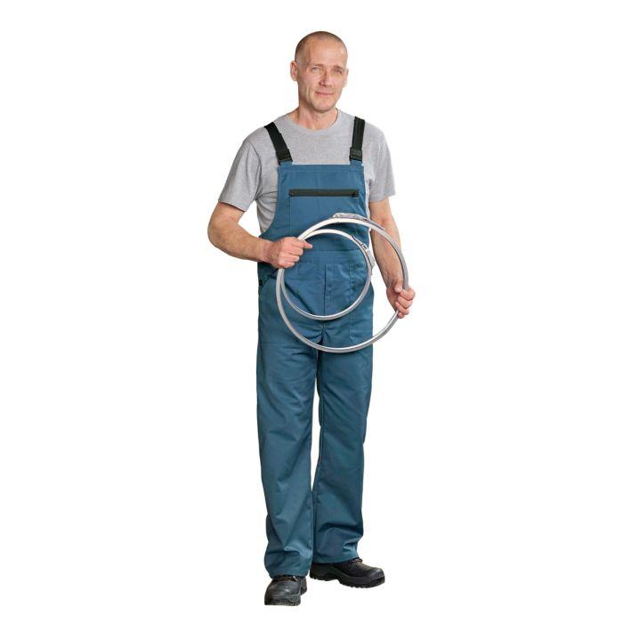 Blaue Arbeits-Latzhose mit sehr reissfester Qualität