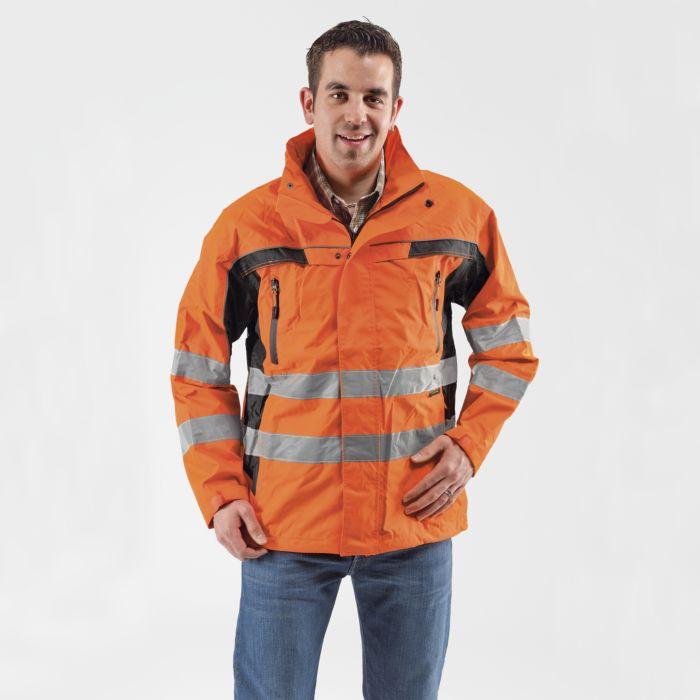 Sicherheits-Regenjacke 100% Polyester