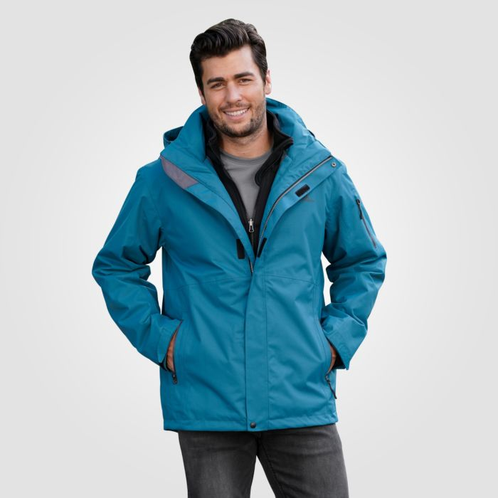 Herren praktische Outdoor-Jacke 3 in 1 wasserdicht