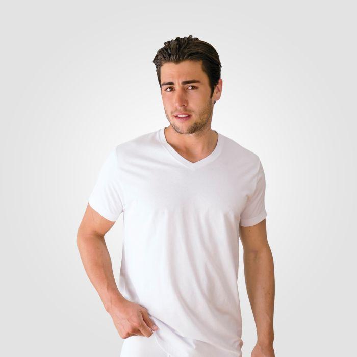 V-Neck Shirt Unterhemd 3er Pack aus 100% Baumwolle
