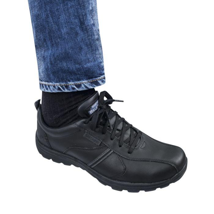 SKECHERS Leder-Schnürschuh mit Futter Herren schwarz