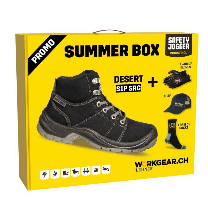 Sicherheitsschuh-Box Sommer mit Cap, Handschuhen, Socken
