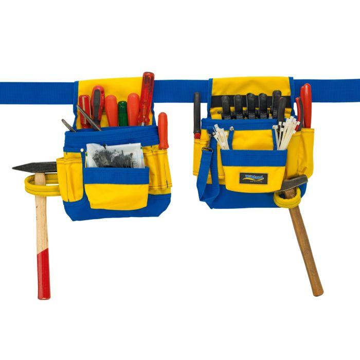 Wikland doppelte Werkzeugtasche mit Polyester-Gürtel