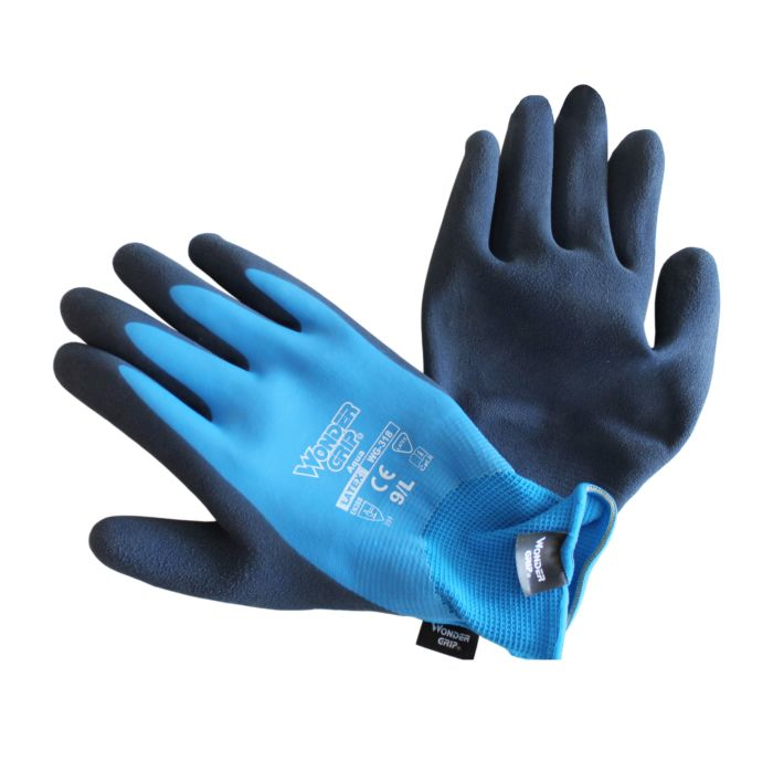 Wondergrip wasserdichter Schaumlatex-Handschuh blau