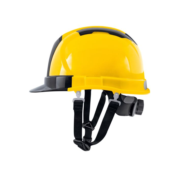 Casque de chantier ABS Delux en partie transparent