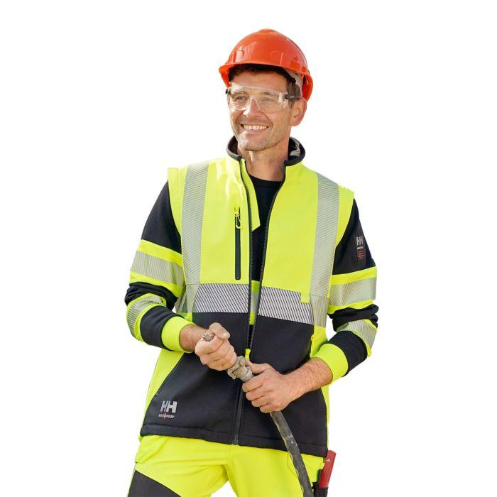 Helly Hansen ICU Sicherheits-Softshell-Jacke mit längerem Rückenteil