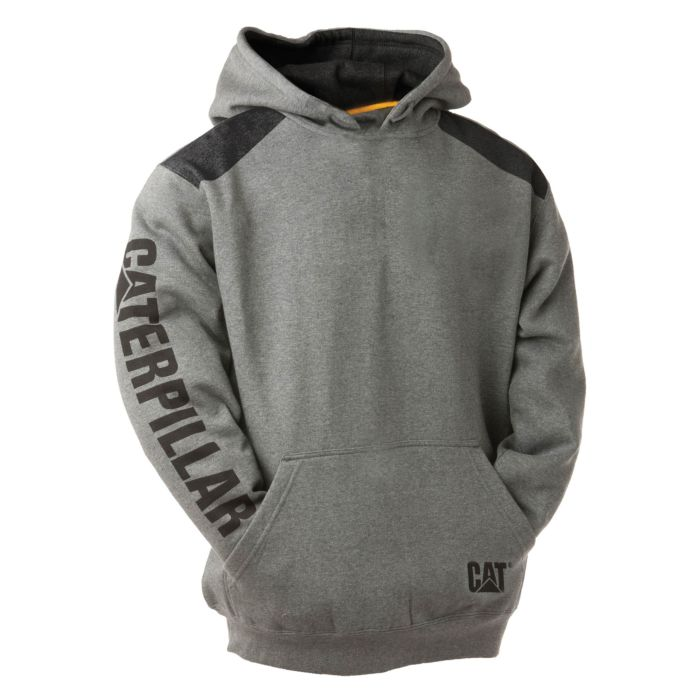CAT Sweatshirt Logo Panel Hooded mit Fronttaschen