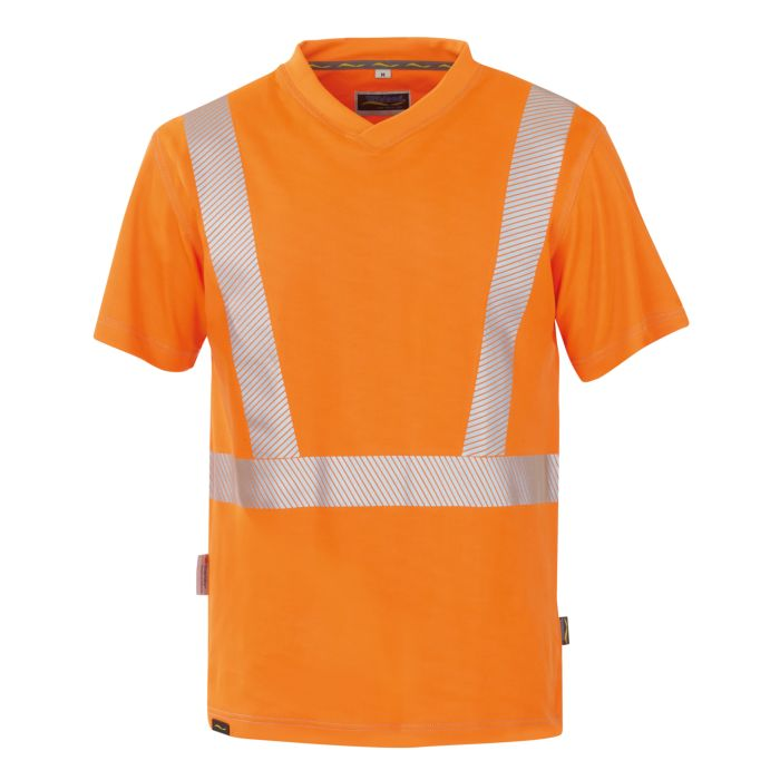 Wikland Sicherheits T-Shirt mit V-Ausschnitt