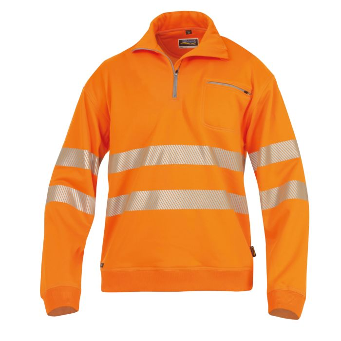 Wikland Sicherheits-Sweatshirt aus Polyester und Baumwolle